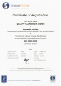 Magrenko hold the ISO9001 accreditation